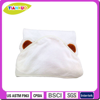 ebmroidery bamboo animal hood towel hooded bath towel