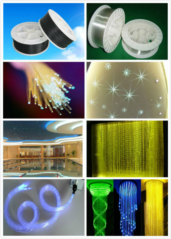 PMMA plastic end glow fiber optic cable for fiber optic light illumination decoration Widely Used In hotel Light decoration