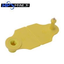 Durable 48mm yellow plastic livestock goat ear tag