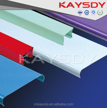 R shaped aluminum ceiling for station using