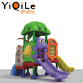 New design small outdoor plastic playhouse kids outdoor slide wholesale plastic slide set