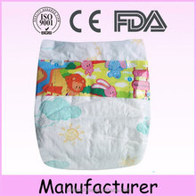 Soft free cloth-like sleepy printed cotton elastic waistband baby diaper