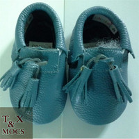 0-18M Boys Girls Soft Sole Leather Moccasin Infant Kids Toddler baby bed