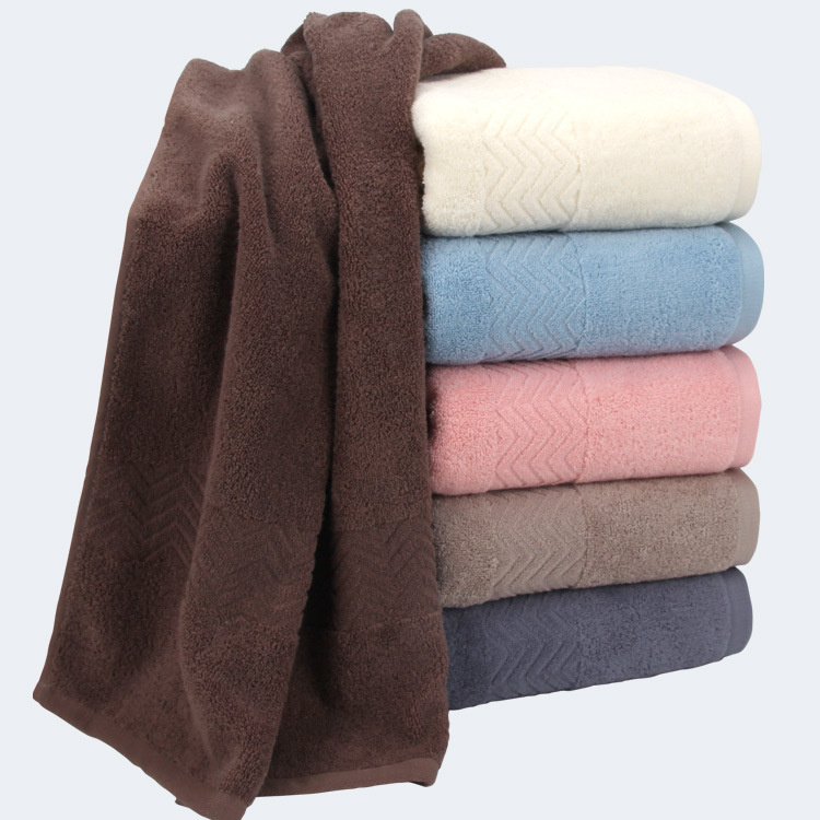 wholesale customized solid color 100% cotton towels baths