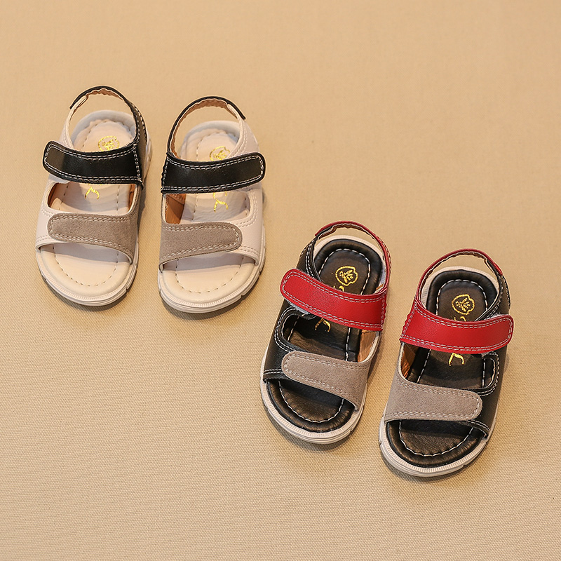 New design wholesale kids flat sandal girls shoes
