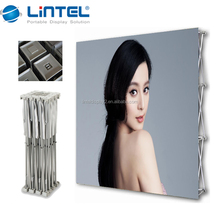 Folding trade show booth backdrop wall pop up banner stand