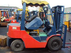 used 3ton toyota forklift 3ton with 3 masts,triple mast for hot sale, high quality