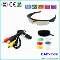 Support remote control sunglasses camera 720p hd video record mini camera
