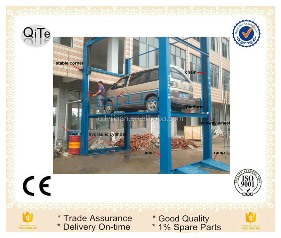 personal electric hydrolic four posts car lift table