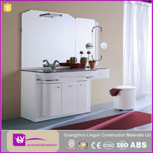 white lacquer high gloss modern barthroom furniture mirrored cabinet made in china foshan factory