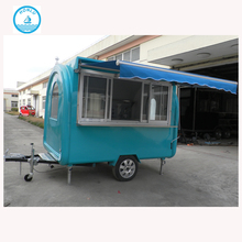 2.8m Fish And Chips Fryers Fryer Drink Bakery Easy Move Bbq Mobile Vending Trailer European Food Cart