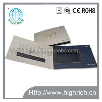 New products lcd video playing card