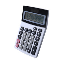 10 Digit Aluminum Surface Solar Power Handheld Angled Display Calculator