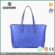 Custom Latest Designer One Shoulder Loyal Blue Faux Leather Handbags Bags For Ladies
