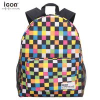 Rainbow checkered 600d polyester backpack