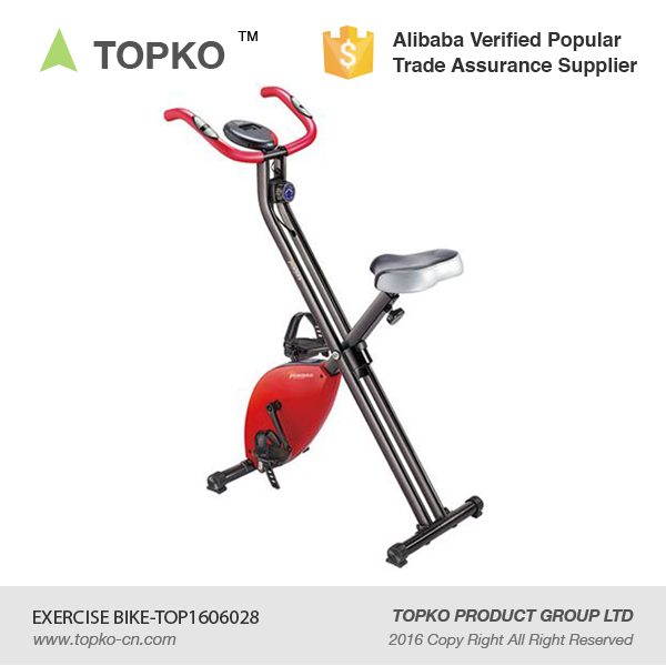 TOPKO body fit magnetic bike resistance gym foldable exercise bike