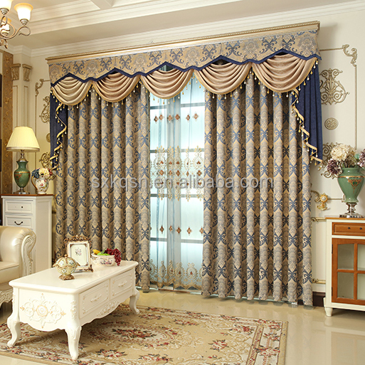 Best elegant european style living room jacquard window curtains