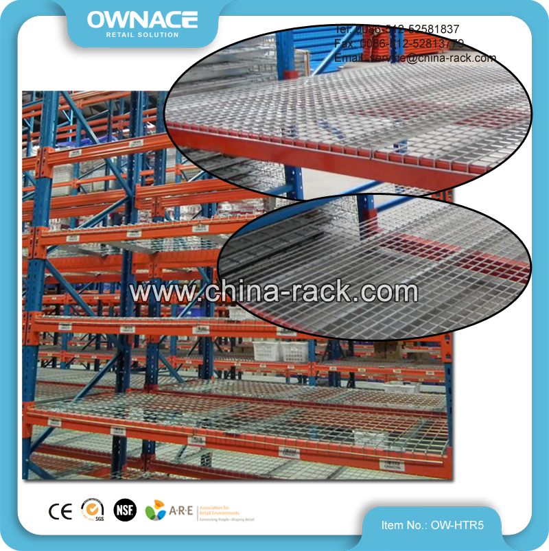 Wire Mesh Deck Storage Racking System Heavy Duty Racking