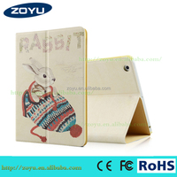 Customized Protective Back PU Leather Tablet Cover For rotating with bandage for capa ipad 2