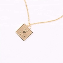 Latest Design Rose Flower 18K Gold Necklaces Pendant Necklace
