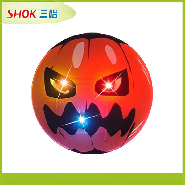 party supply Halloween christmas pumpkin head led badge