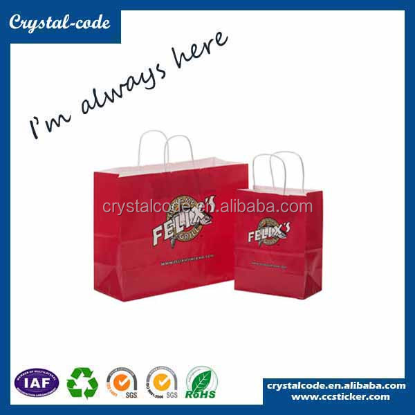 Good quality hot stamping laminated gift paper bag with logo print