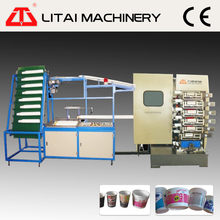 6 color plastic coffee cup printing machine