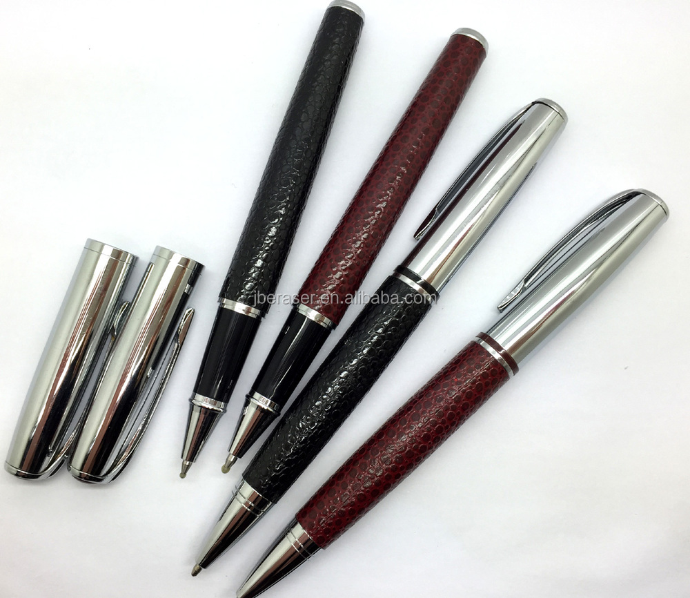velvet flocking bag packed promotional metal ballpen