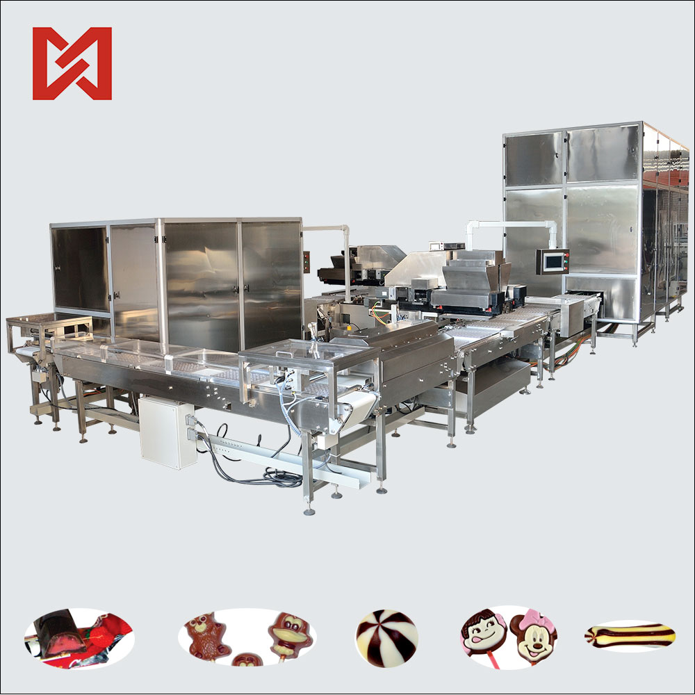 High speed industrial chocolate peanut glazing machine