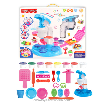 QT4715131 Intelligence toys pretend toys set ice cream machine colored DIY mud playdough for kids