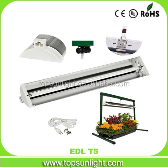 SLT EDL T5 24W T5 system fluorescent Grow Light Stand/greenhouse fluorescent tube lamp