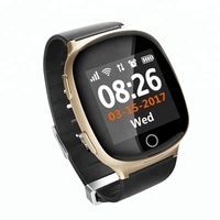 D100 OLED Touch Screen Android GPS Smart Watch Elder Smartwatch With GPS LBS WIFI Tracking