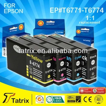 Printer Consumables Compatible Ink Cartridge for Epson T6771/6772/6773/6774 Ink Cartridge High Quality