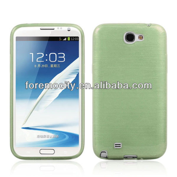 New for SAMSUNG Note2 N7100 tpu brush finish case