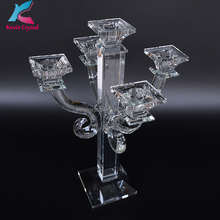 suqare crystal table candelabra for wedding centerpiece