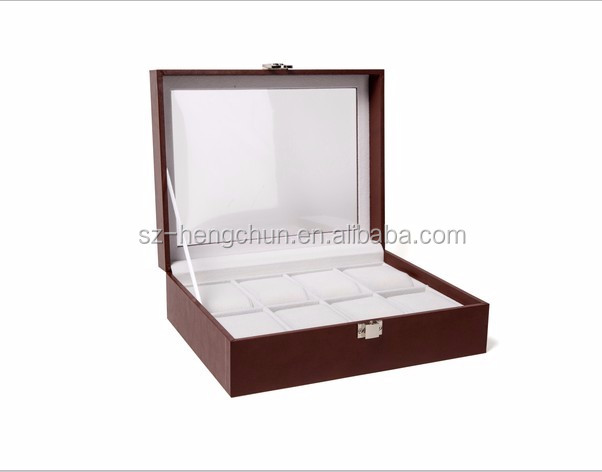 High quality MDF watch storage box with 8 pillows supplier