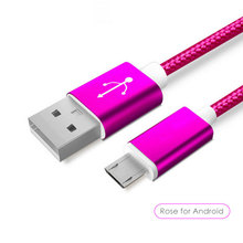 Wholesale high end 1M Braided Nylon Fast Speed Charging 1m USB Cable,