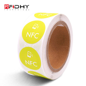 Url Encoded MIFARE Ultralight 13.56Mhz Small NFC Sticker Tag