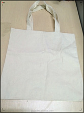 Promotional Cheap plain white cotton canvas tote bag
