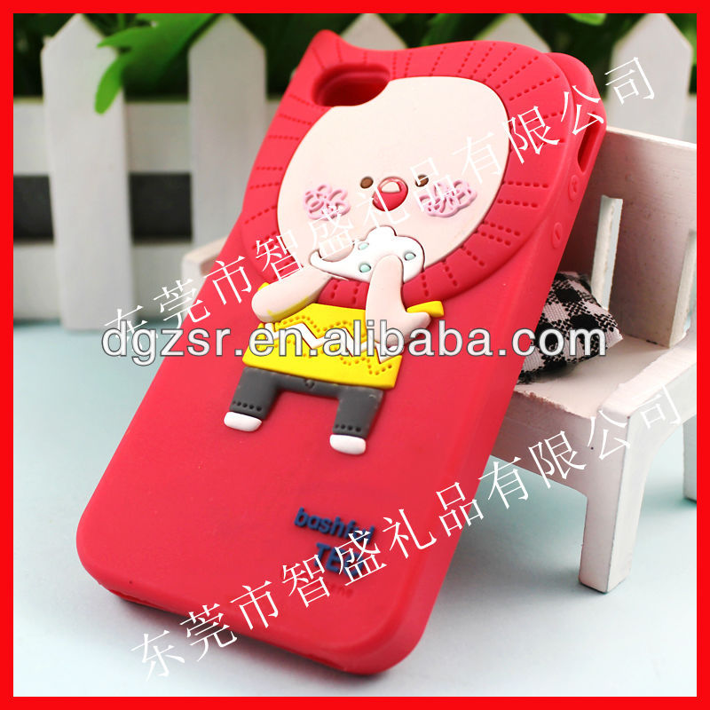 Animal shape silicone phone case for iphone