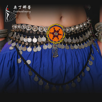 belly dance tribal belt,imported coins decorated belt,belt for ATS belly dance