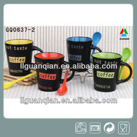 dark special design handle ceramic mug