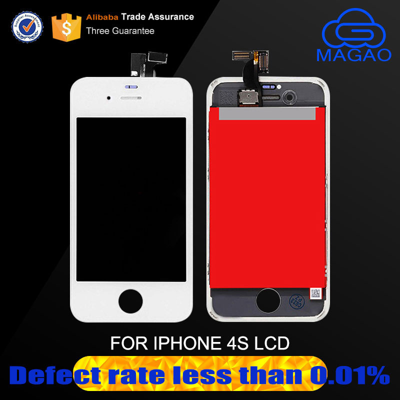 Foxconn oem mobile phone for iphone 4 s lcd touch screen digitizer, display lcd for iphone 4s replacement
