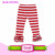 2016 hot sale children clothes christmas striped blank icing baby leggings icing ruffle pants for baby leggings