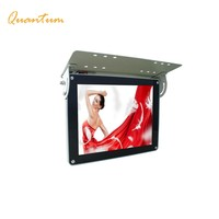 LCD TV Display 12/ 15/ 17/ 19/ 22/ 25 inch Advertising Touch Screen Flip Down Bus Monitor 24V