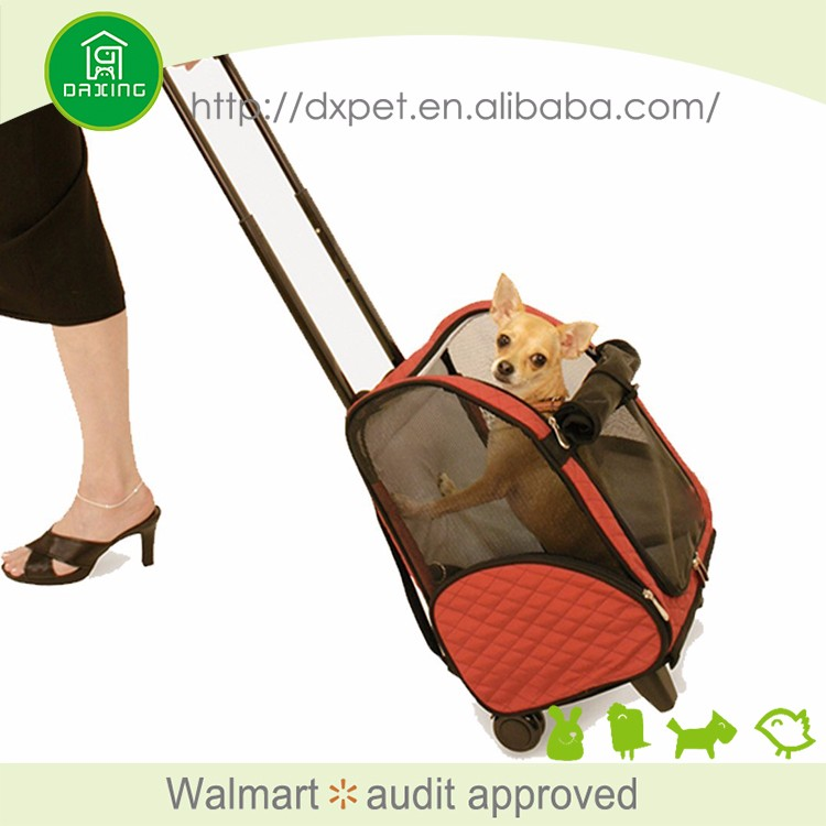 DXPB007 Sling fashion outdoor popular pet product large pet carrier on wheels