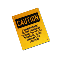 warning safe plastic caution sign board
