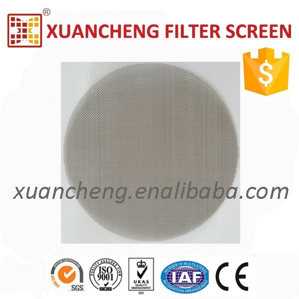 PVC scrap recycling using stainless steel screen, cutting discs, woven cloth