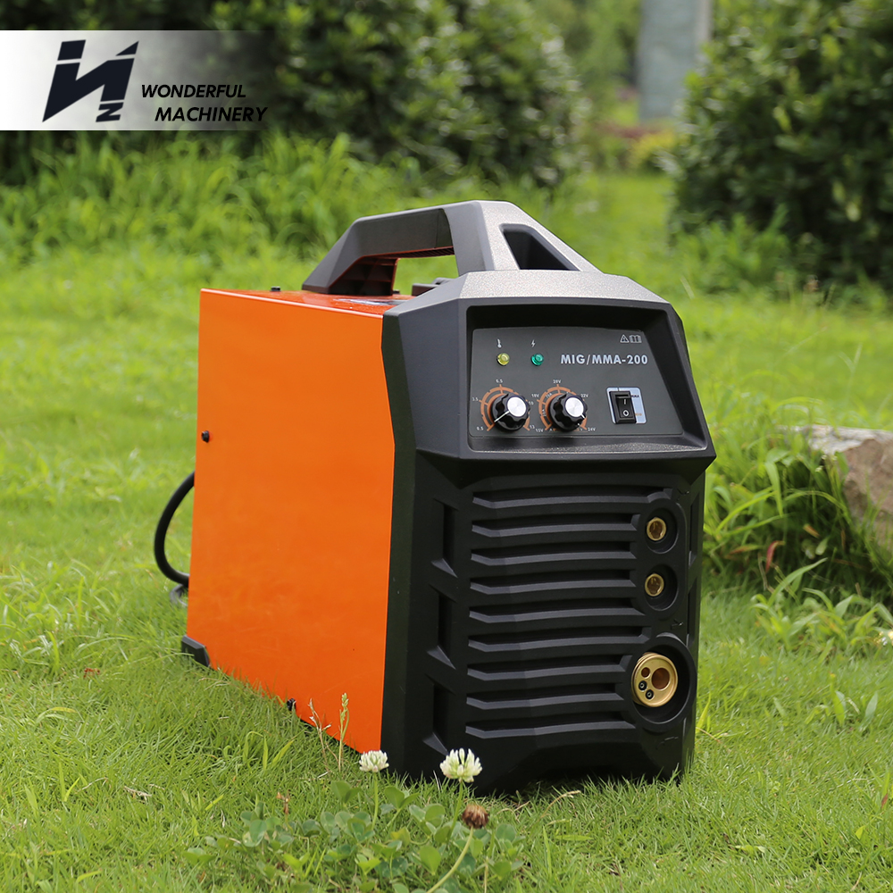 Factory best price mma mig-200 igbt inverter portable co2 mig welding machine