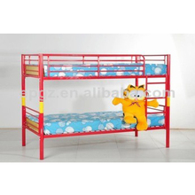Red color batman metal bunk bed for sale